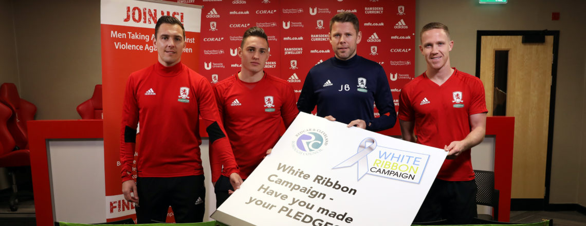 Boro joins White Ribbon team to call 'full time' on violence towards women