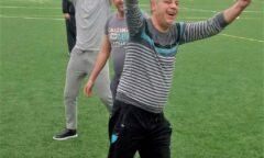 Participant celebrates scoring a goal