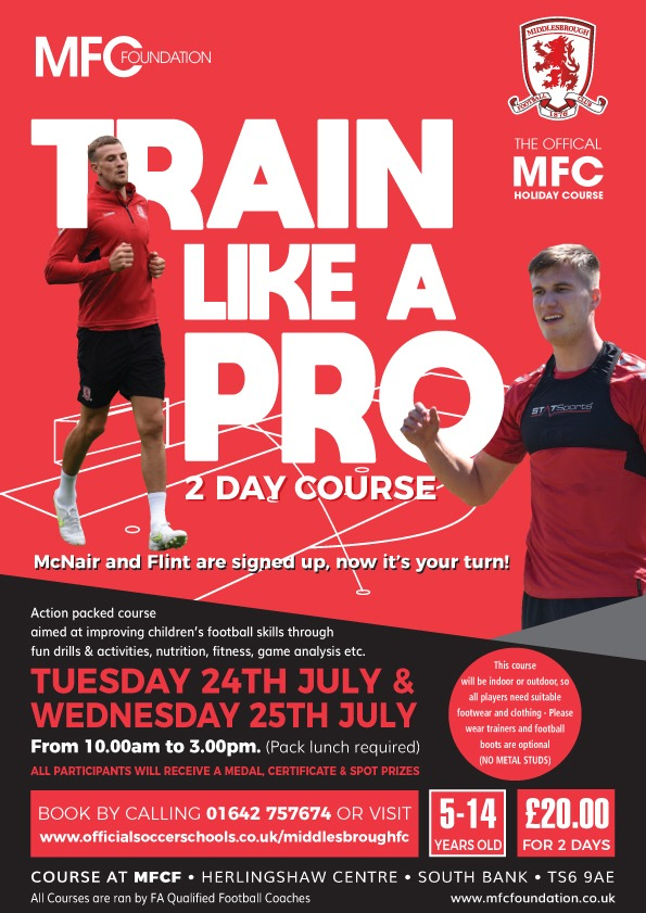 Boro Summer Holiday Course Dates Announced - MFC Foundation
