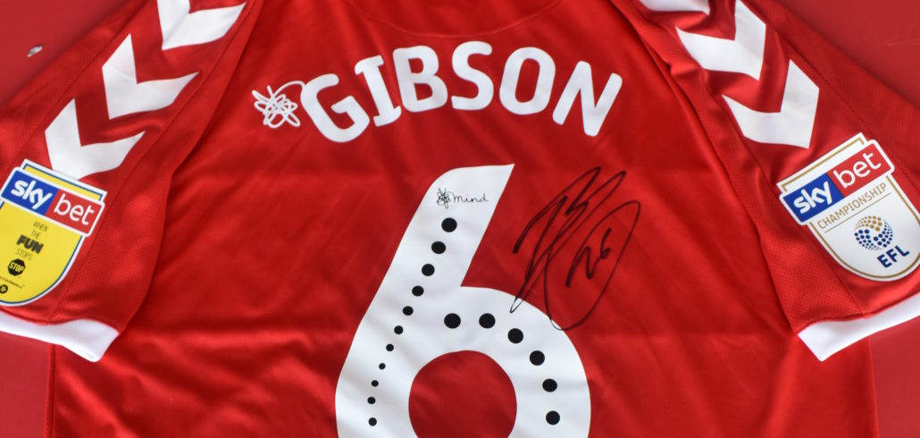 Ben Gibson's Final Official Signed Home Shirt