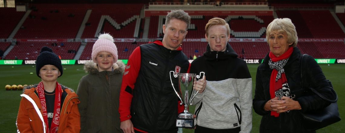 Ethan awarded David Bingham Trophy for Premier League Kicks dedication