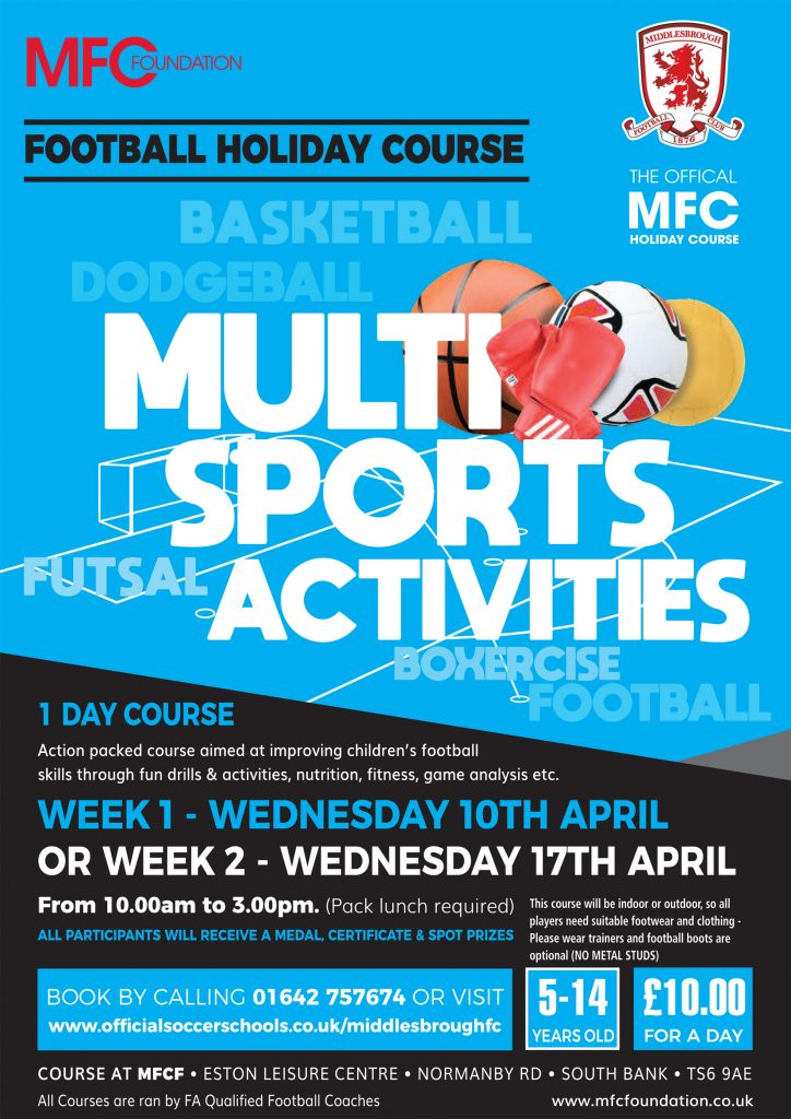 Seven Days of Boro Holiday Courses this Easter - MFC Foundation