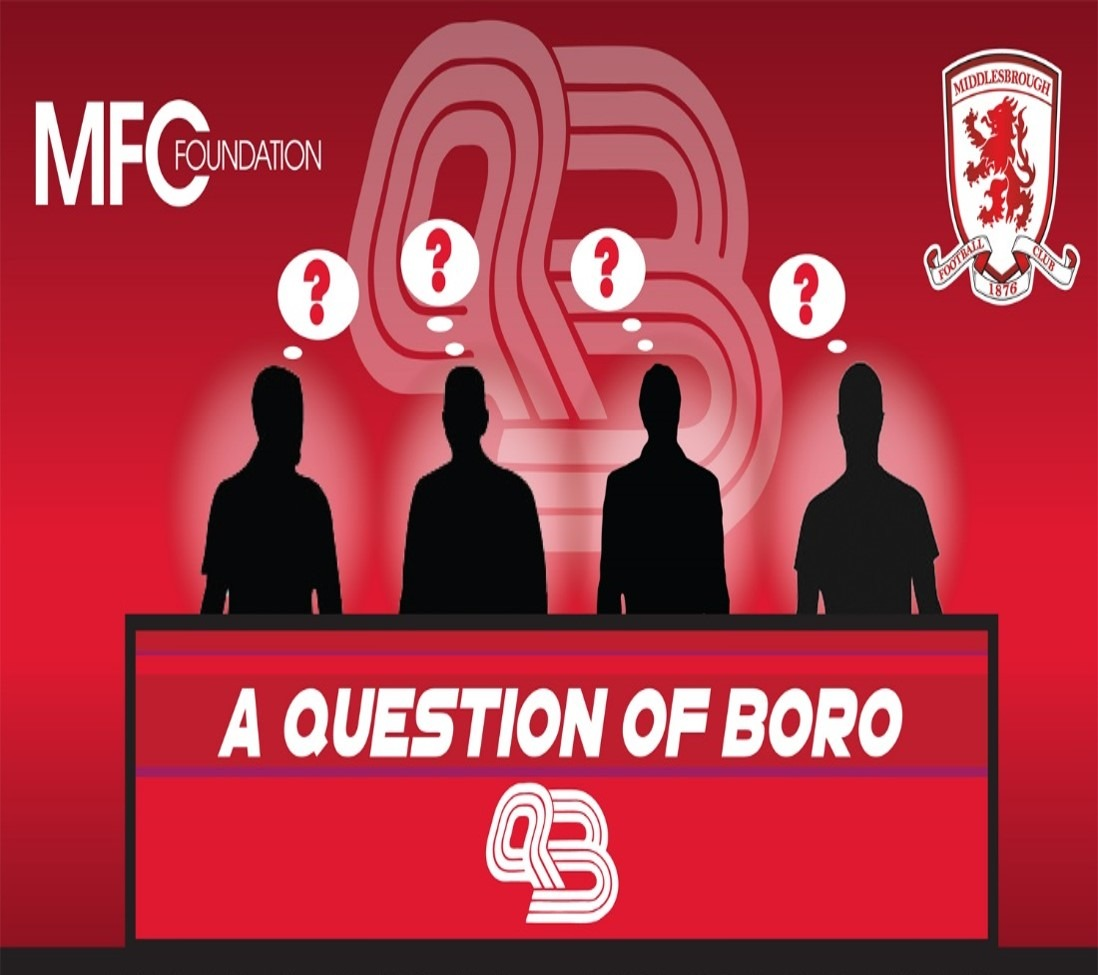 """MFC Foundation are delighted to announce the return of 'A Question of Boro', which will see a team of current Boro stars taking on a team of Boro """"Legends""""."""
